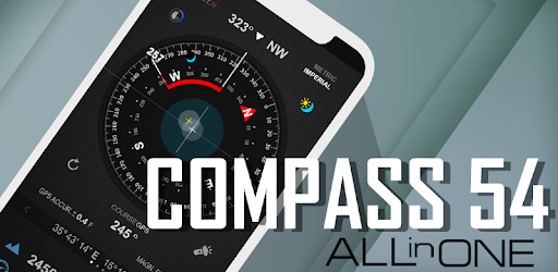 Compass 54 (All-in-One GPS, Weather, Map, Camera) 2.7 build 37 (Mod)