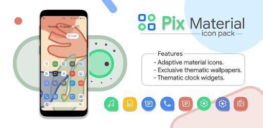 Pix Material Icon Pack 4.1.realise (Patched)