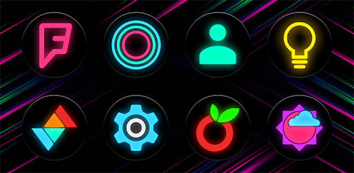 Neon Glow C – Icon Pack v6.2.0 (Patched)
