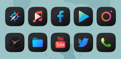Athena Dark Icon Pack – Dark Squircle Icons 3.4 (Patched)