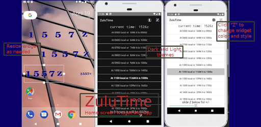 Aviator's Zulu Time Widget 3.20 (Paid)