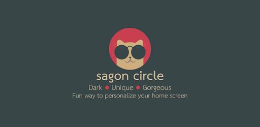 Sagon Circle Icon Pack: Dark UI 11.3 (Patched)