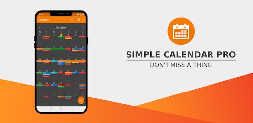 Simple Calendar MOD APK 6.15.3 (Paid Pro)