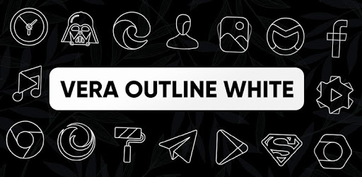 Vera Outline White – White linear icons (Beta) 4.2.1 (Patched)