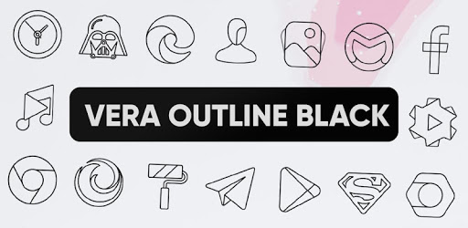Vera Outline Black – Black linear icons (Beta) 4.2.1 (Patched)