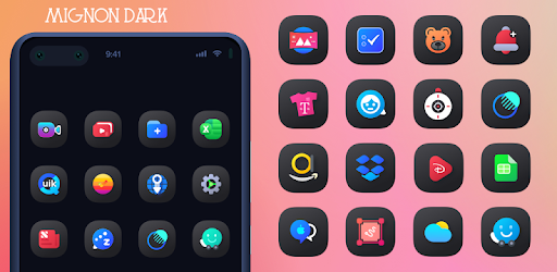 Mignon Dark Icon Pack v1.0.1 (Patched)