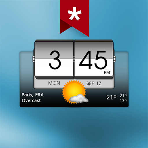 3D Flip Clock & Weather Adfree 5.84.18 (Paid)