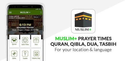 Muslim+ Prayer Times, Quran, Qibla, Dua, Tasbih v8.6 (SAP-AdFree)