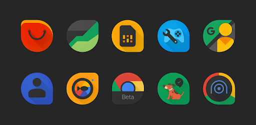 Blackdrop – Icon Pack v6.7 (Patched)