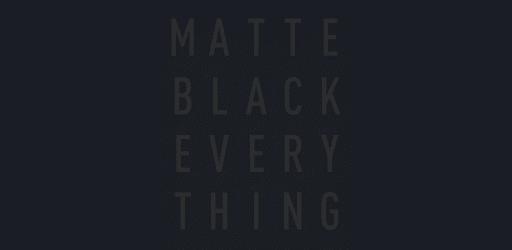 Matte Black Icon Pack v5.7 (Paid)