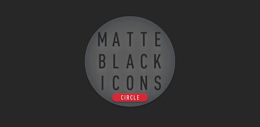 Matte Black CIRCLE Icons v1.6 (Paid)