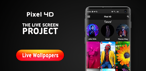 Live Wallpapers 4K, Backgrounds 3D/HD – Pixel 4D 2.8.6 (Premium)
