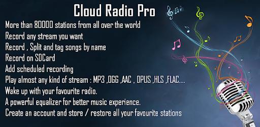 Cloud Radio MOD APK 8.1.2 (Paid Pro)