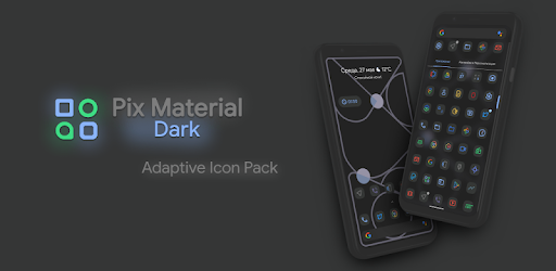 Pix Material Dark Icon Pack 1.stable (Patched)