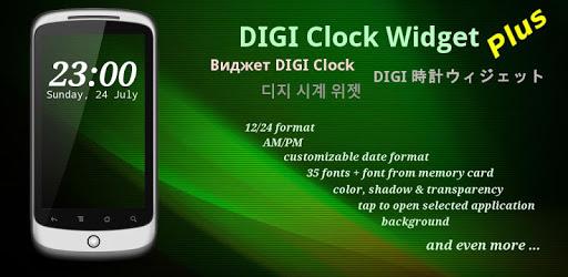 DIGI Clock Widget Plus v2.3.5 (Paid Mod)