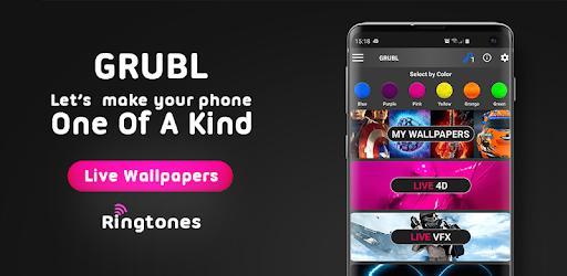 GRUBL Live Wallpapers 4Κ & Ringtones 2.8.7 (Unlocked)