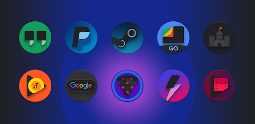 Baked – Dark Android Pie Icon Pack 3.5 (Patched)