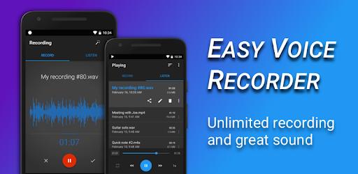 Easy Voice Recorder MOD APK 2.7.6 b282760601 (Pro)
