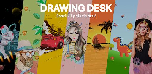 Drawing Desk Draw Paint Color Doodle& Sketch Pad 5.8.5 (Unlocked)