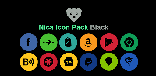 Nica Icon Pack Black 1.0.8 (Mod Sap)