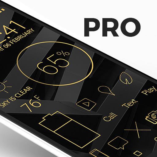 Lines Gold Pro – Icon Pack 3.3.3 (Patched)