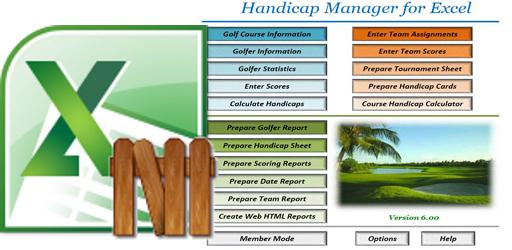 Handicap Manager v7.0.3.0 for Excel